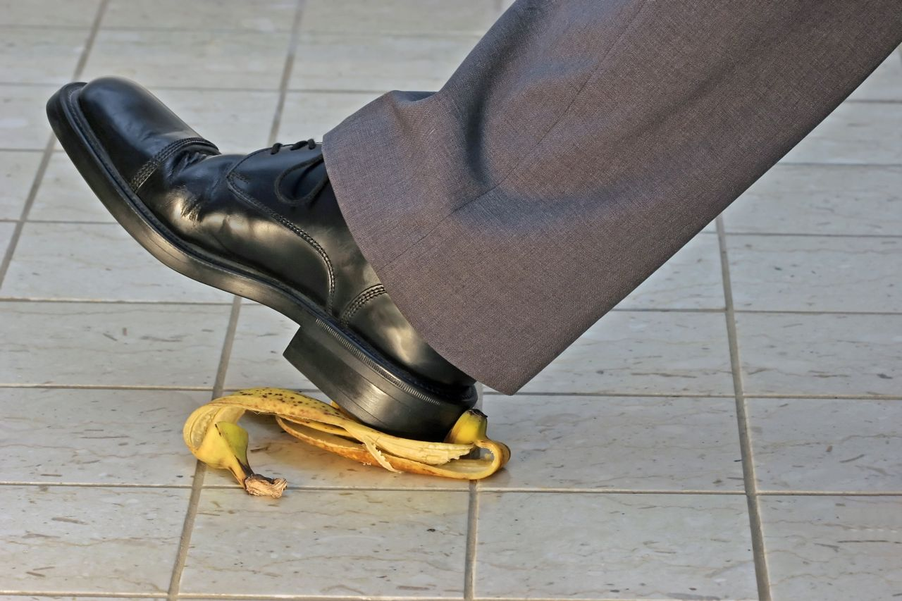 Someone Slipping on a Banana Peel