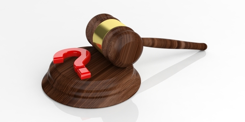 Gavel with Question Mark