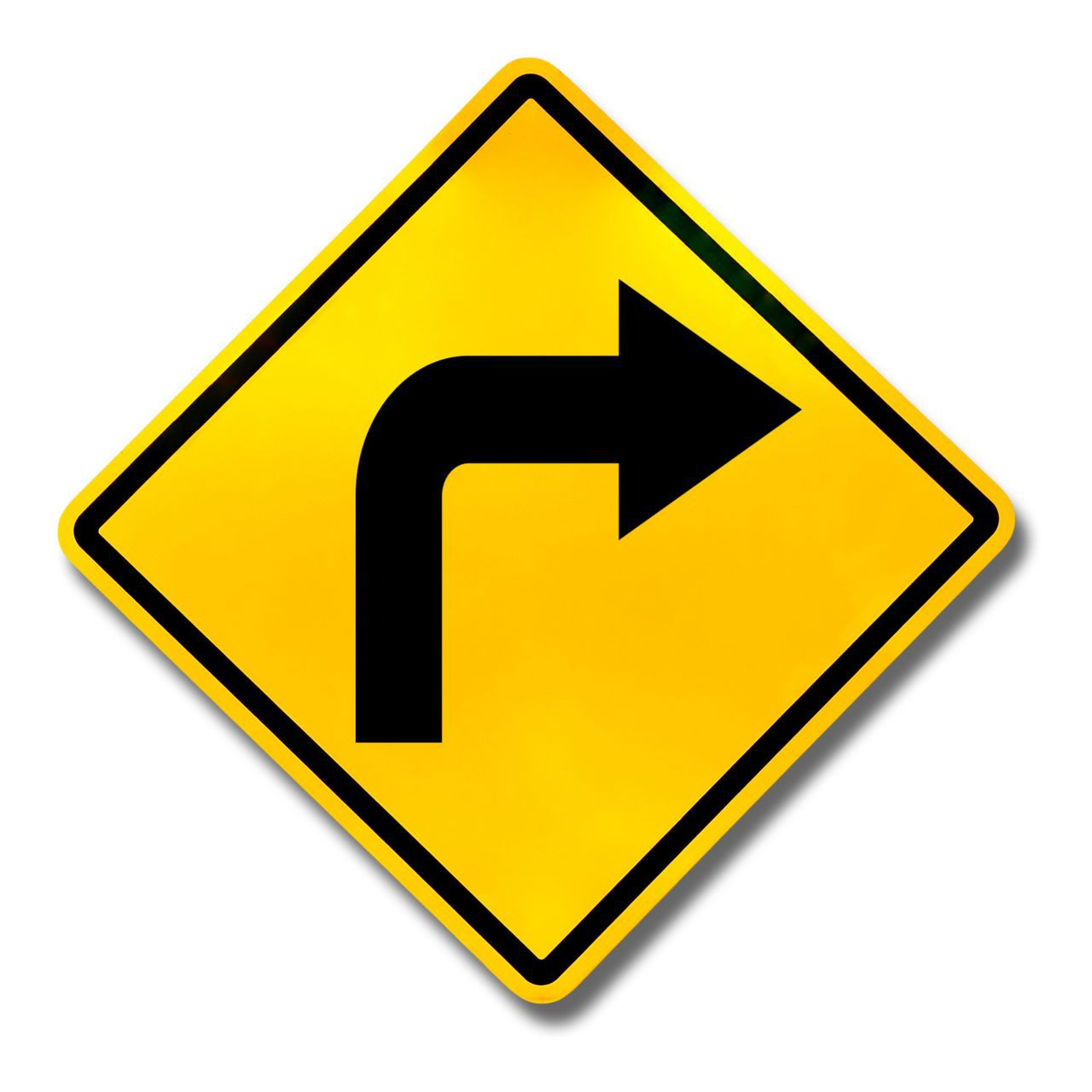 Right Turn Street Sign
