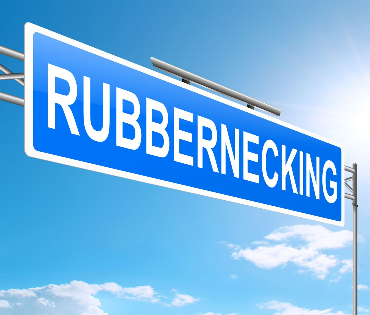 Rubbernecking Highway Sign