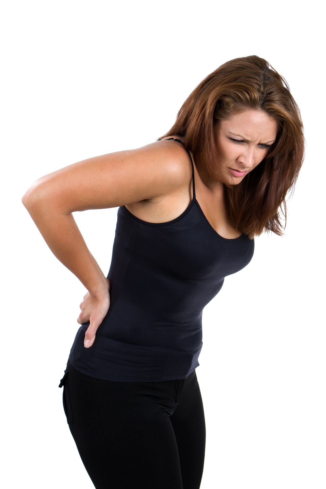 Lady Holding Her Lower Back in Pain