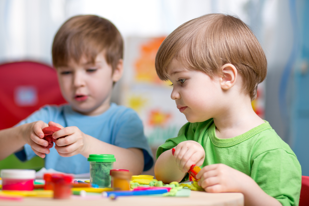 Toddlers Playing at Daycare