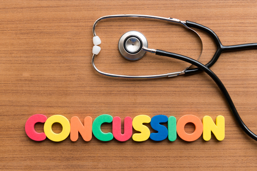 Stethescope with the Word Concussion