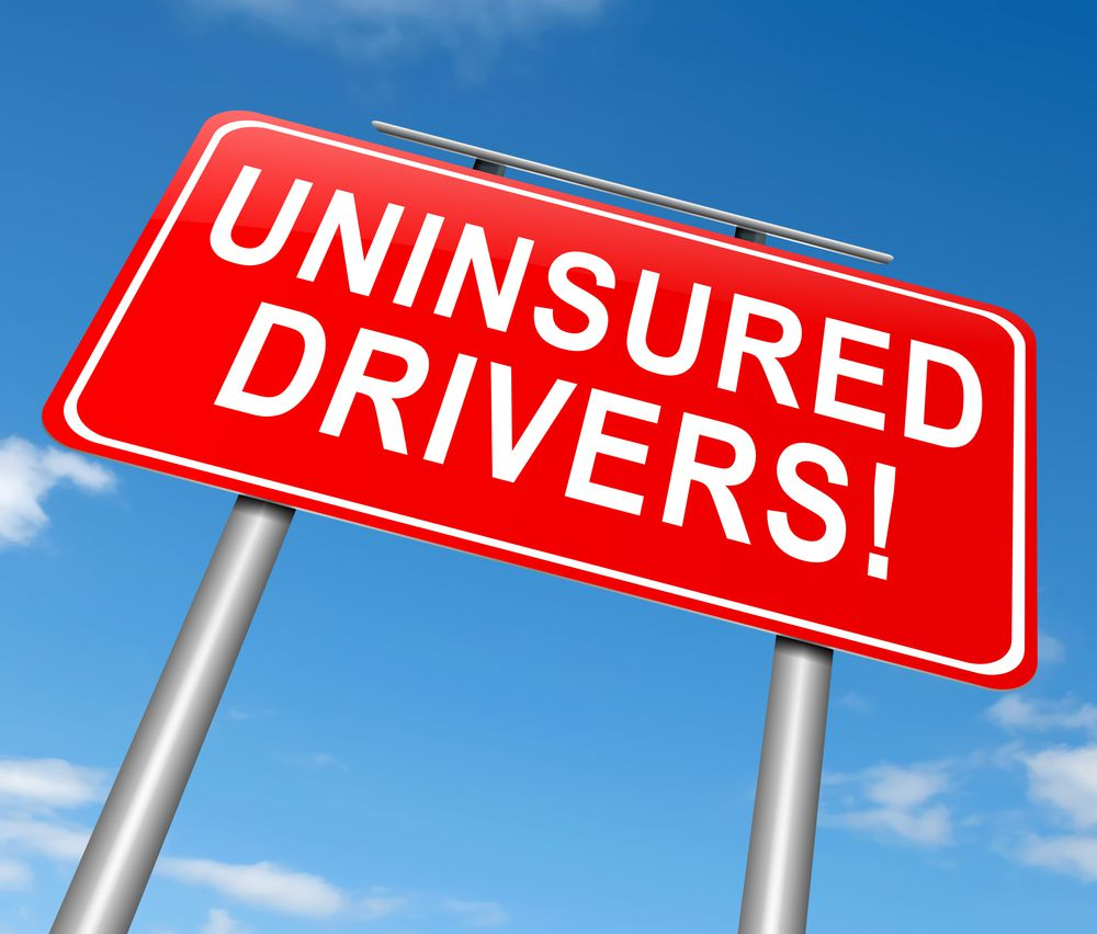 Uninsured Drivers Street Sign