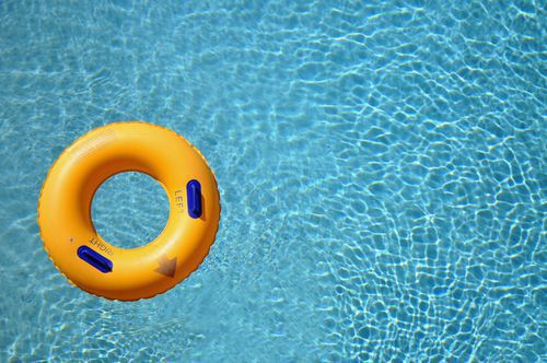 Inner Tube Floating in a Swimming Pool