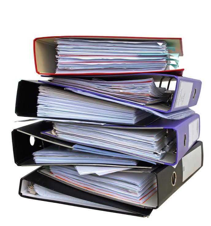 binders of evidence