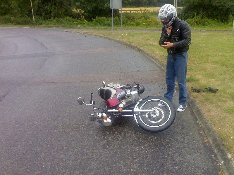 Motorcyclist After Crash