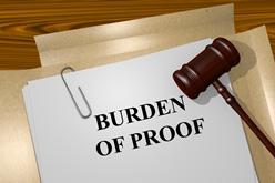 Burden of Proof Paperwork With Gavel