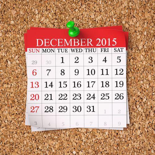 A Calendar of December 2015