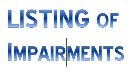 Listing of Impairments