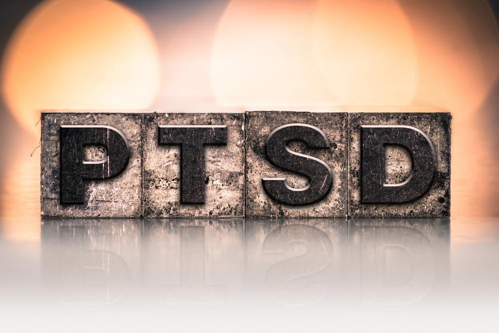 ptsd spelled out in block letters