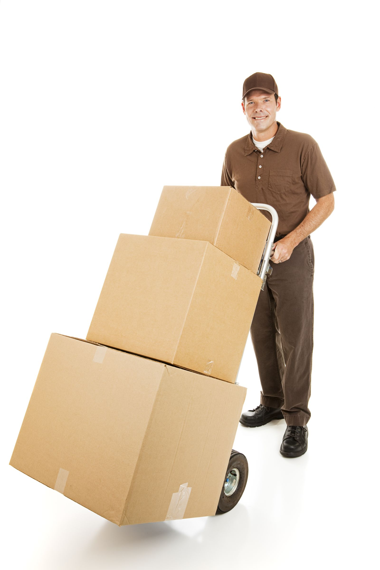 Delivery man with boxes