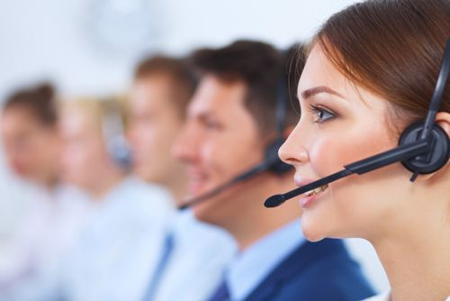 Telemarketers Working in a Call Center