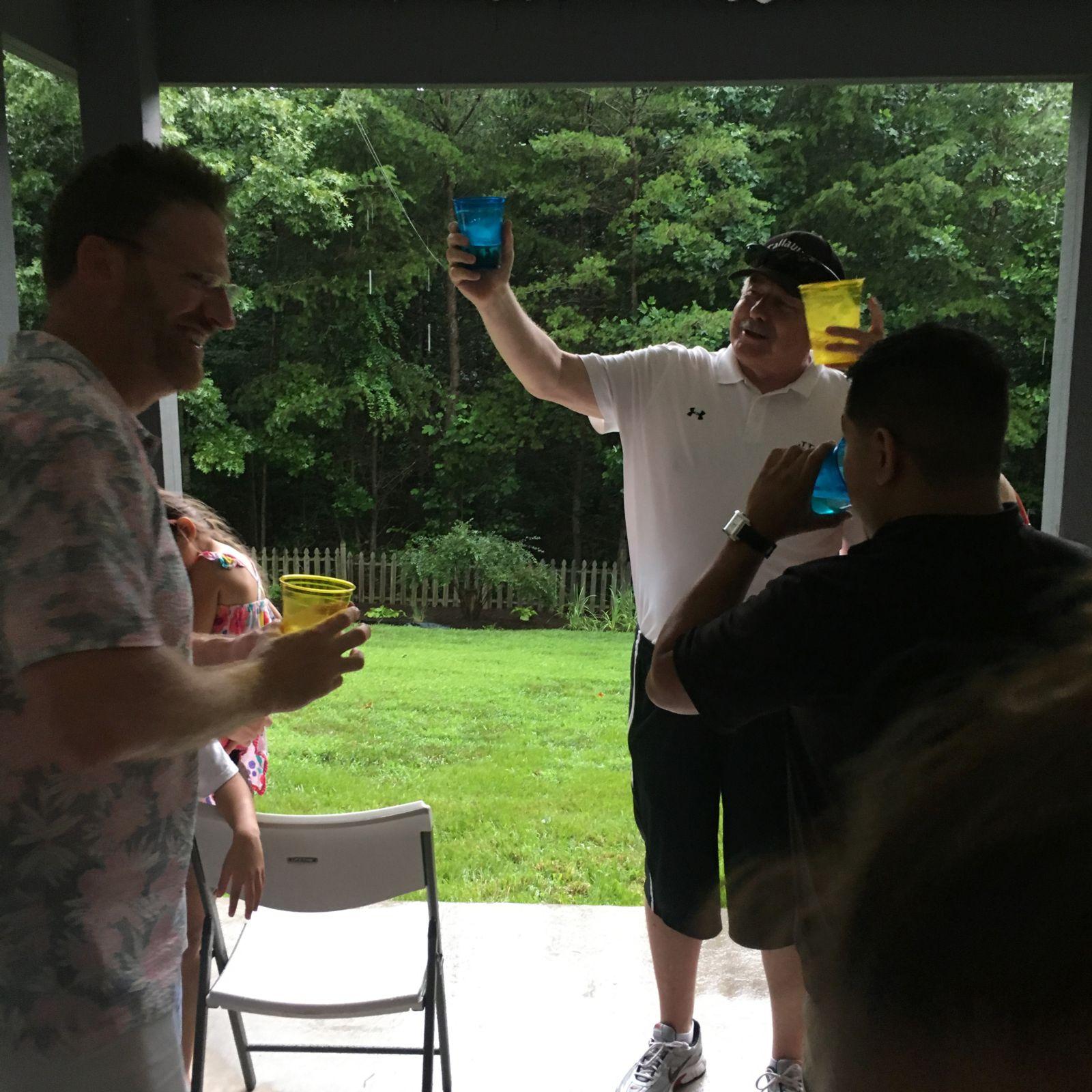 toasting at kffj picnic