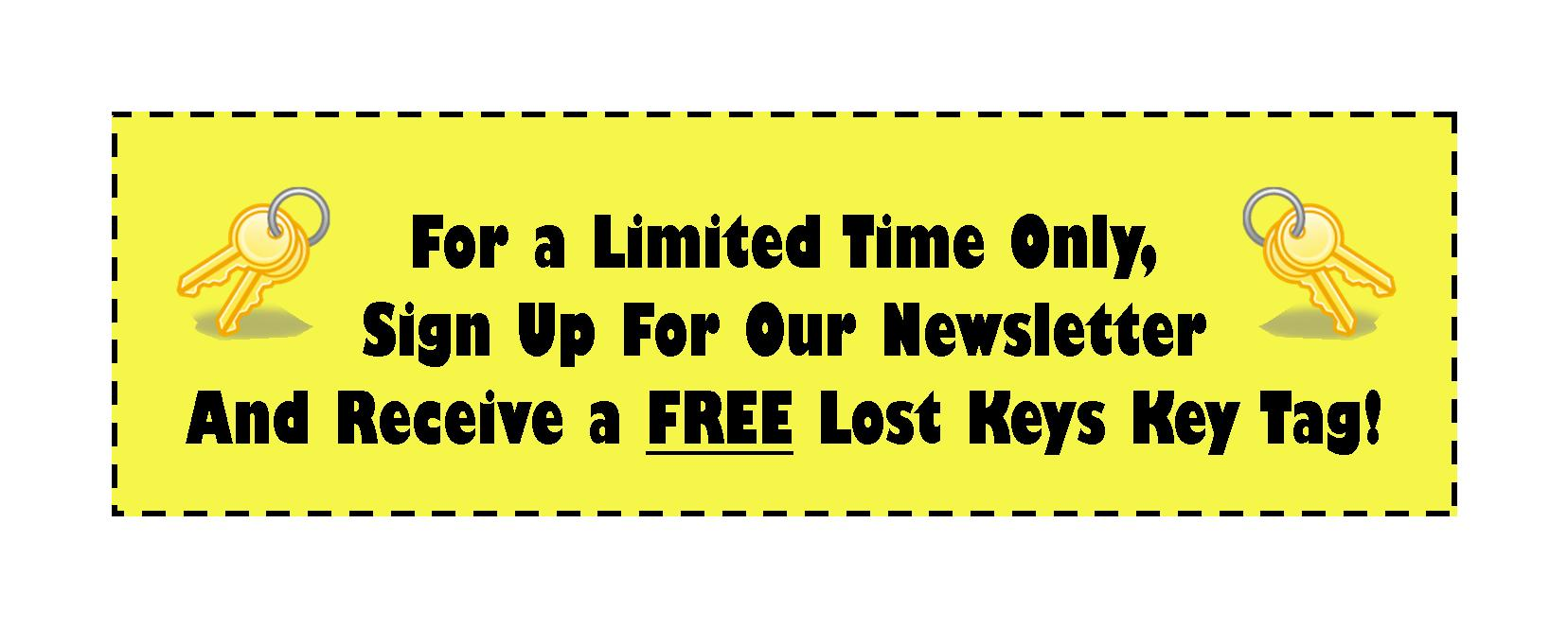 Free key tag for signing up for SC Legal News
