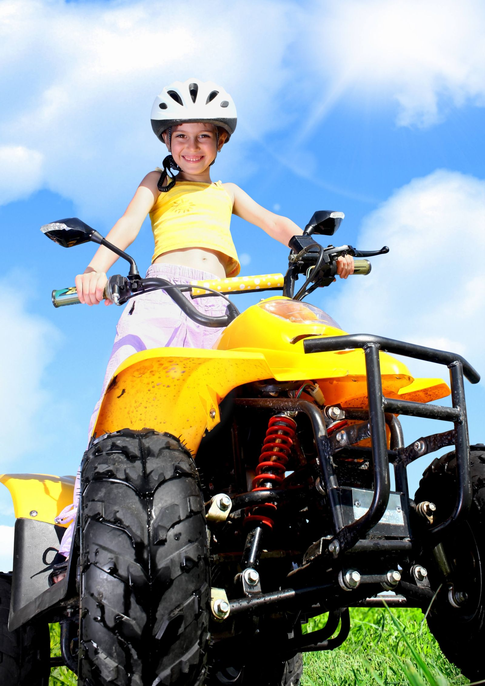 Girl Driving ATV