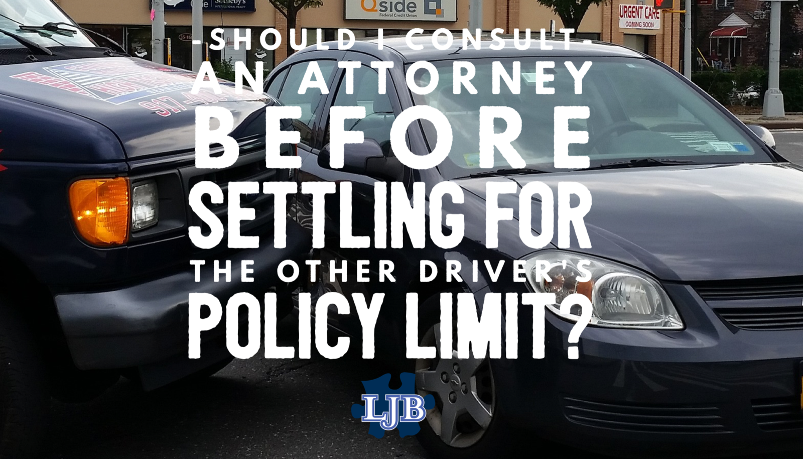 Should I consult an attorney before settling for the other driver's policy limit?