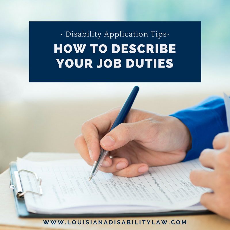 Long-Term Disability Application Tip: How to Describe Your Job Duties