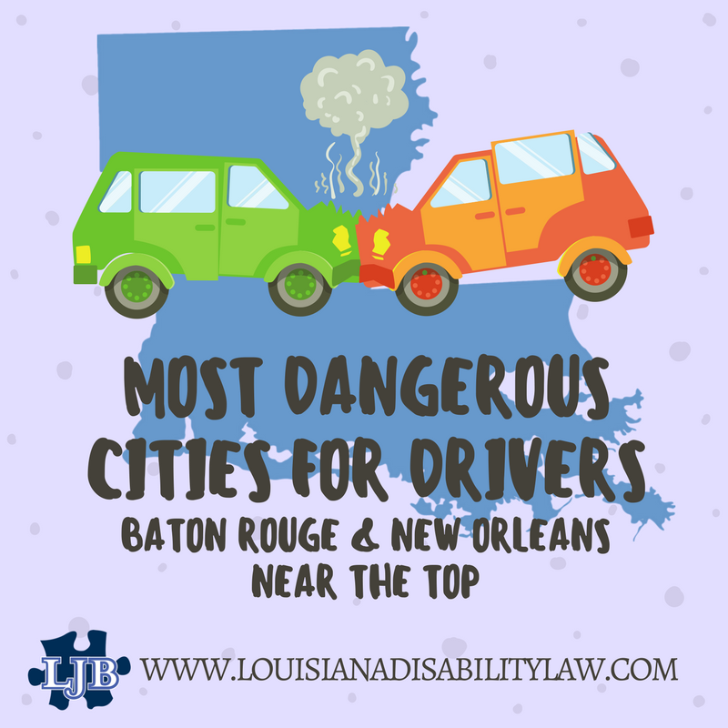Most Dangerous Cities for Drivers: Baton Rouge and New Orleans near the top