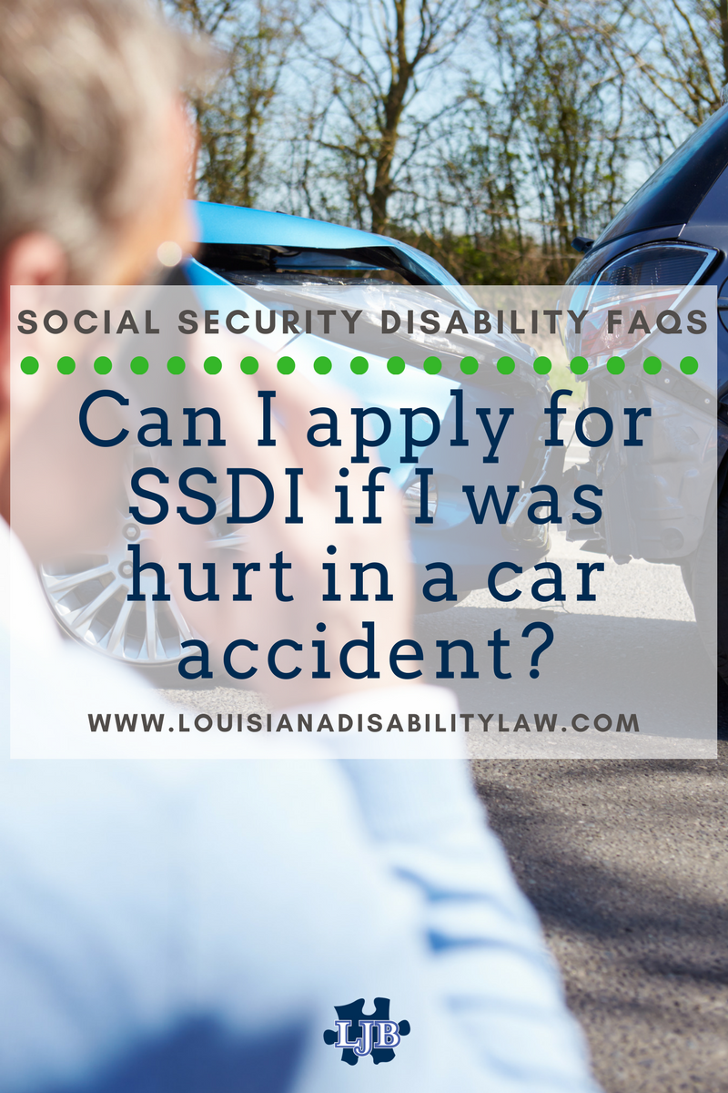 Can I apply for SSDI if I was hurt in a car accident?