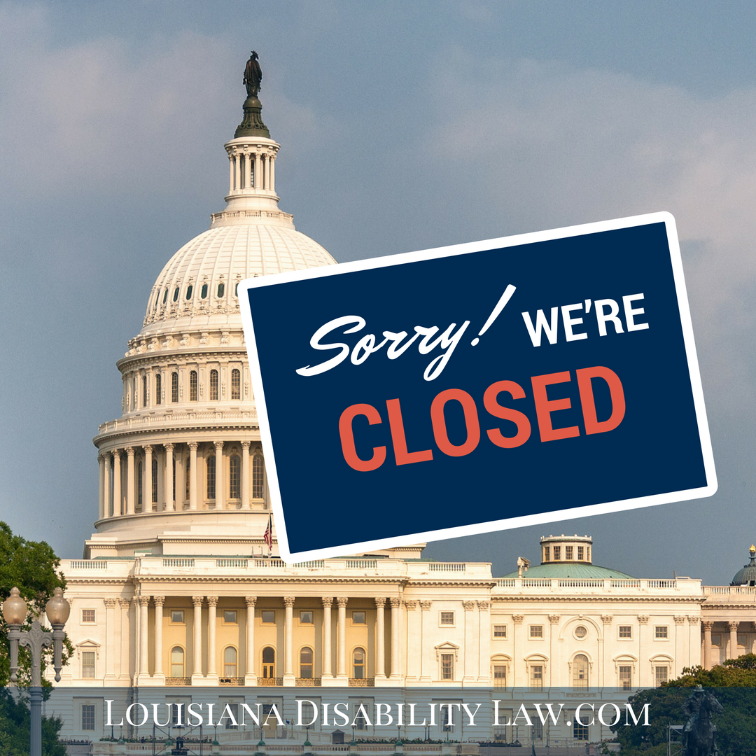 What happens to Social Security Disability during a government shutdown?