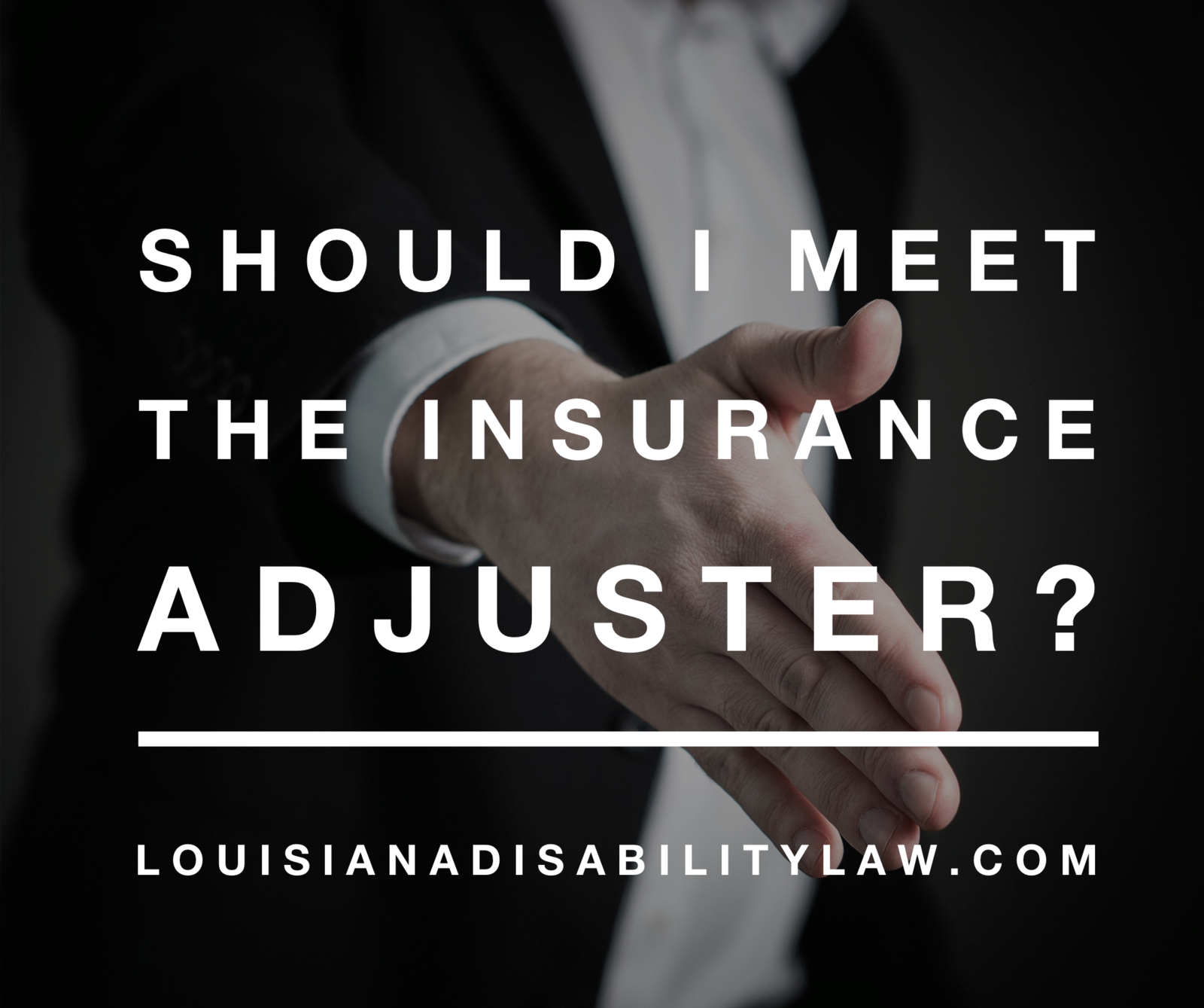 Should I meet the insurance adjuster?