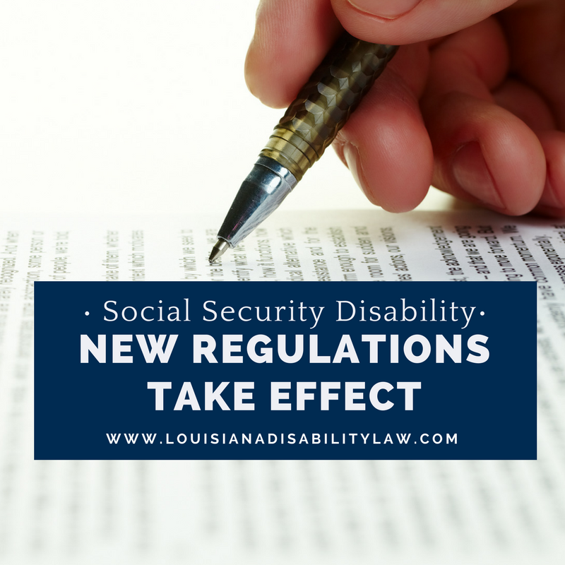 Social Security Disability - New Regulations Take Effect