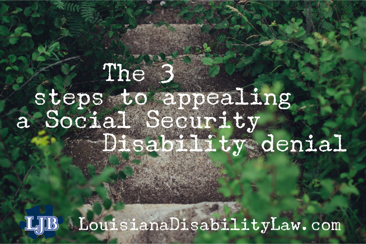 The 3 steps to appealing a Social Security Disability denial