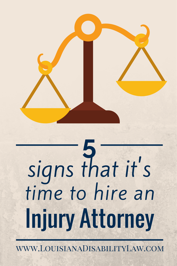 5 signs that it's time to hire a personal injury attorney
