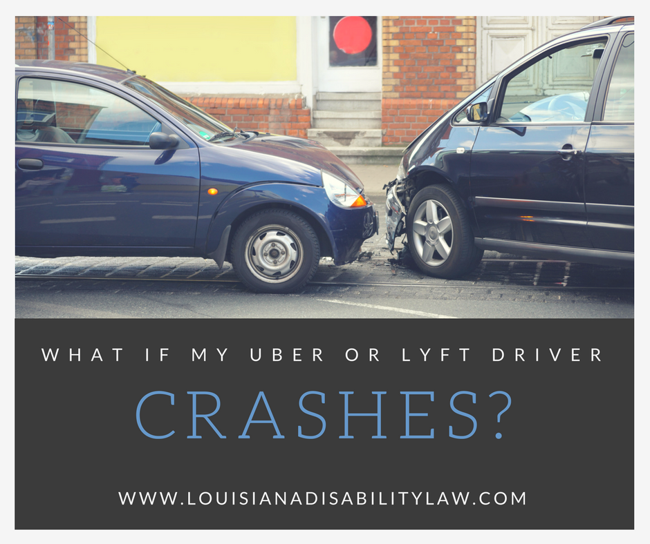 What if my Uber or Lyft drive crashes?