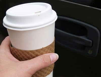 Fort worth drinking coffee in the car causes a crash