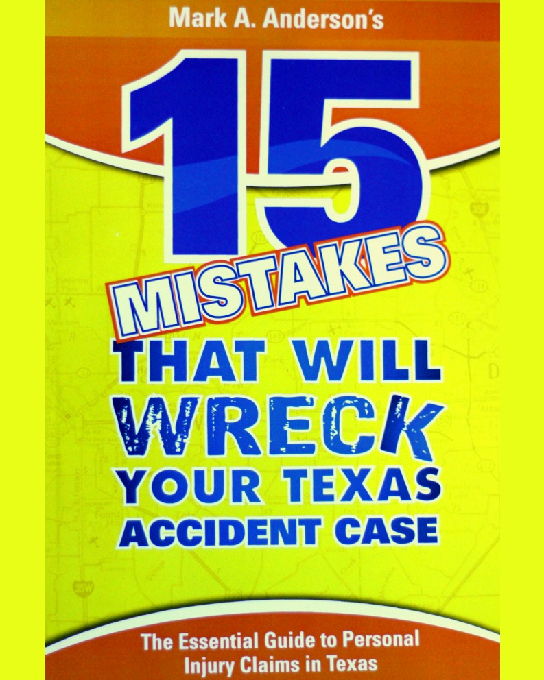 Texas Accident Books & Reports: Free Legal Guides | Anderson Law Firm
