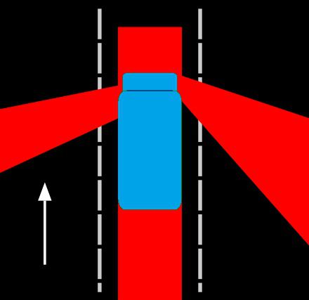 Texas truck's blind spots and no zones
