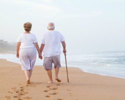 Elderly walking.