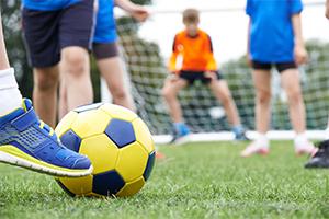 Children's soccer game
