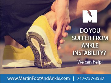Don't suffer from ankle instability.