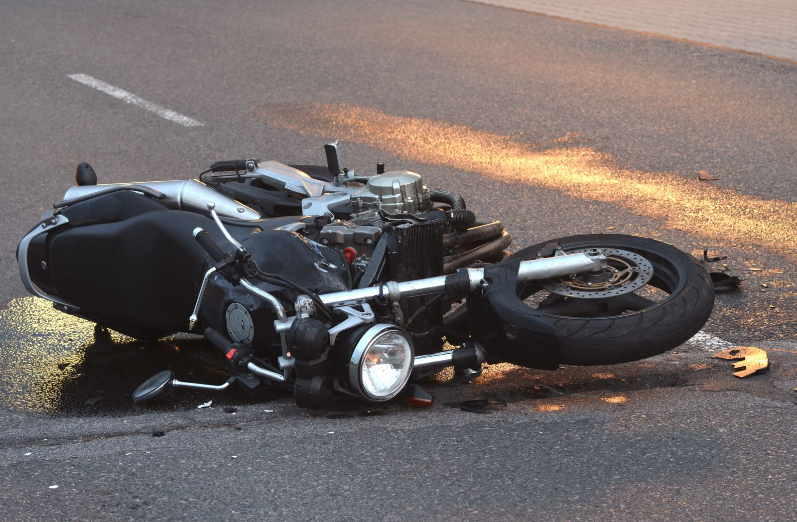 Aftermath of Motorcycle Accident