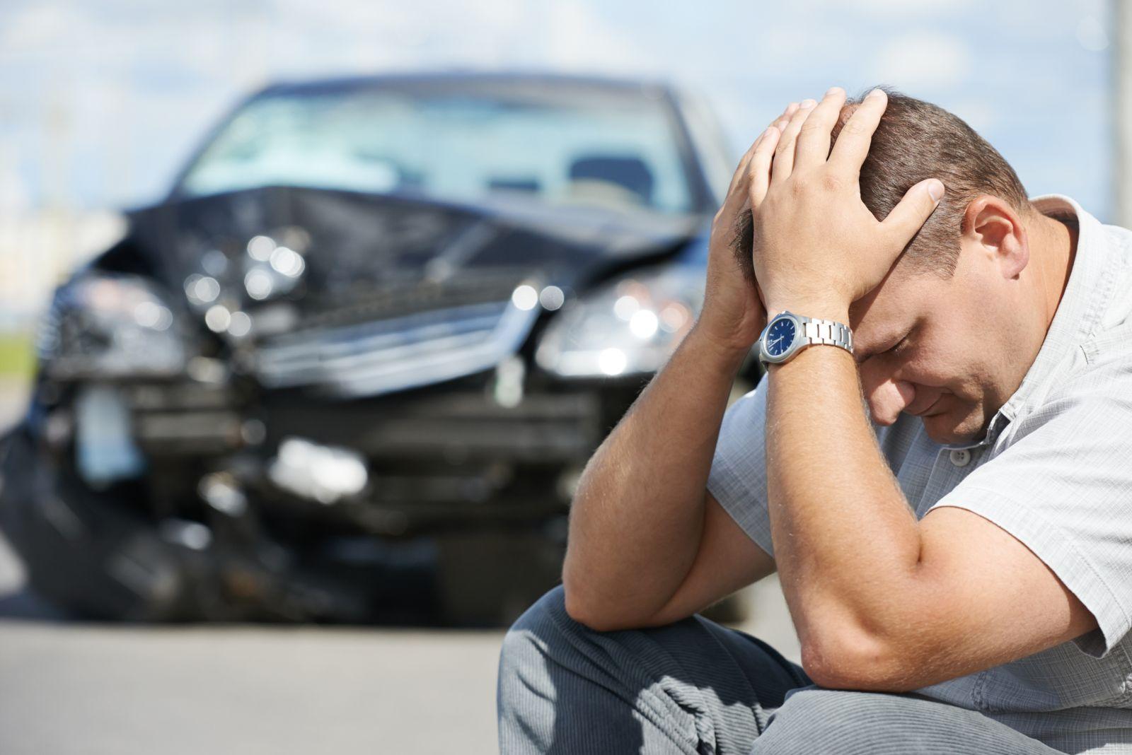 Man Upset After Car Accident