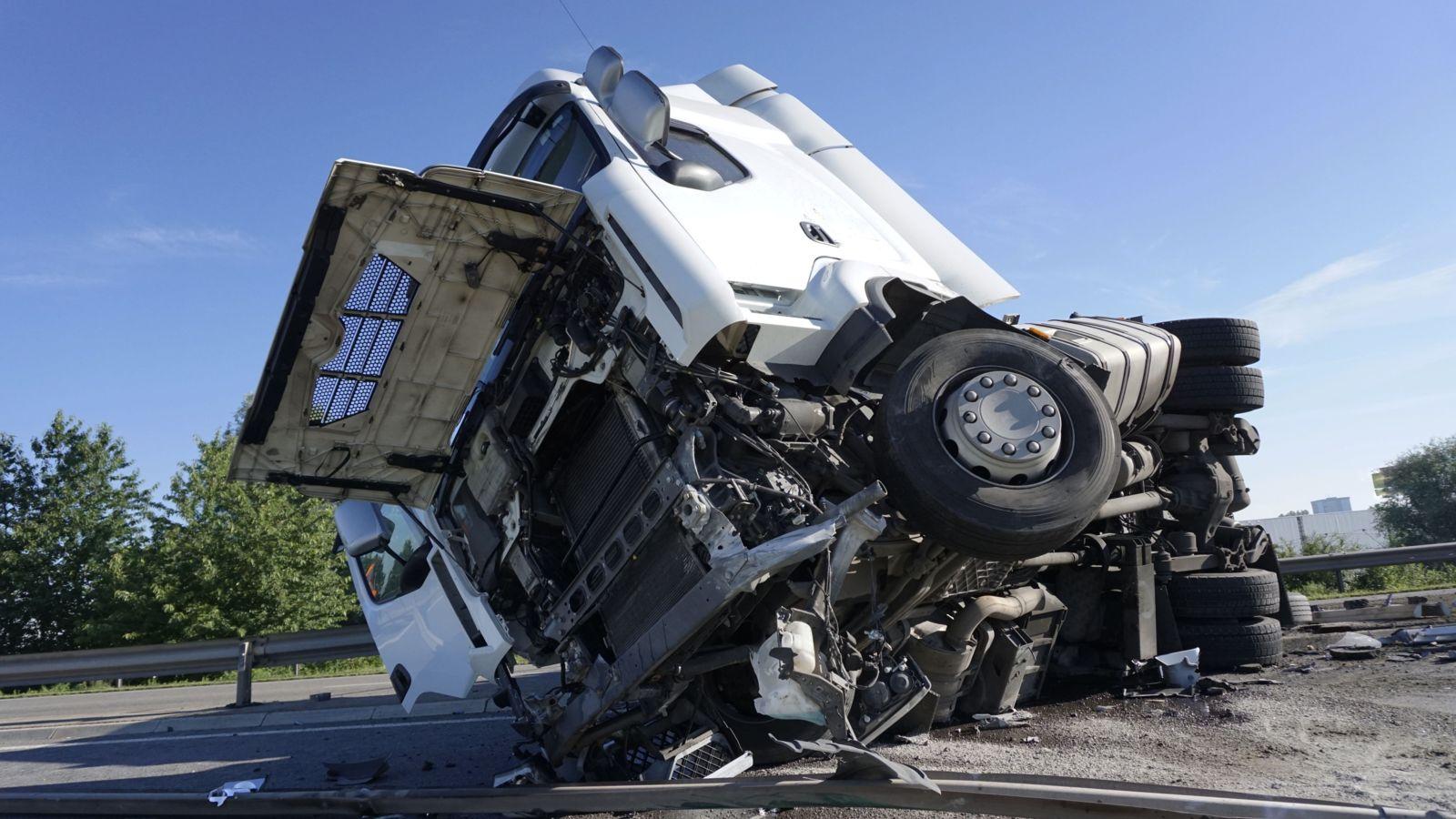 Semitruck Accident on Highway