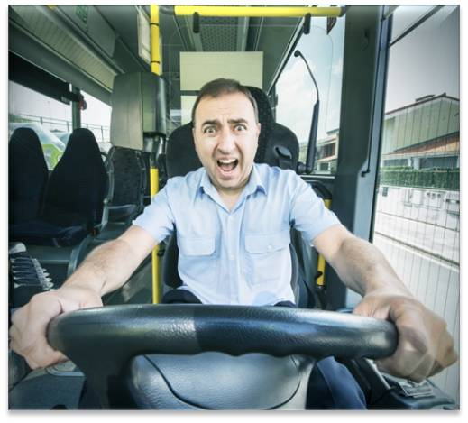 Scared Bus Driver