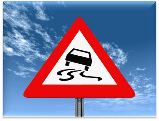Swerving Car Sign