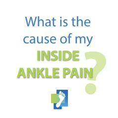 Find out what is causing pain to the inside of your ankle.