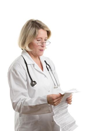 Doctor Reviewing Side Effects of Xarelto