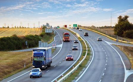 trucks on highway