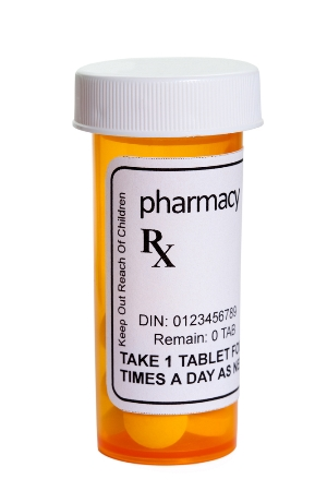 generic prescription bottle