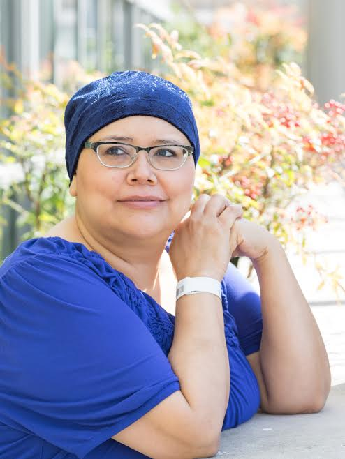 cancer patient with turban
