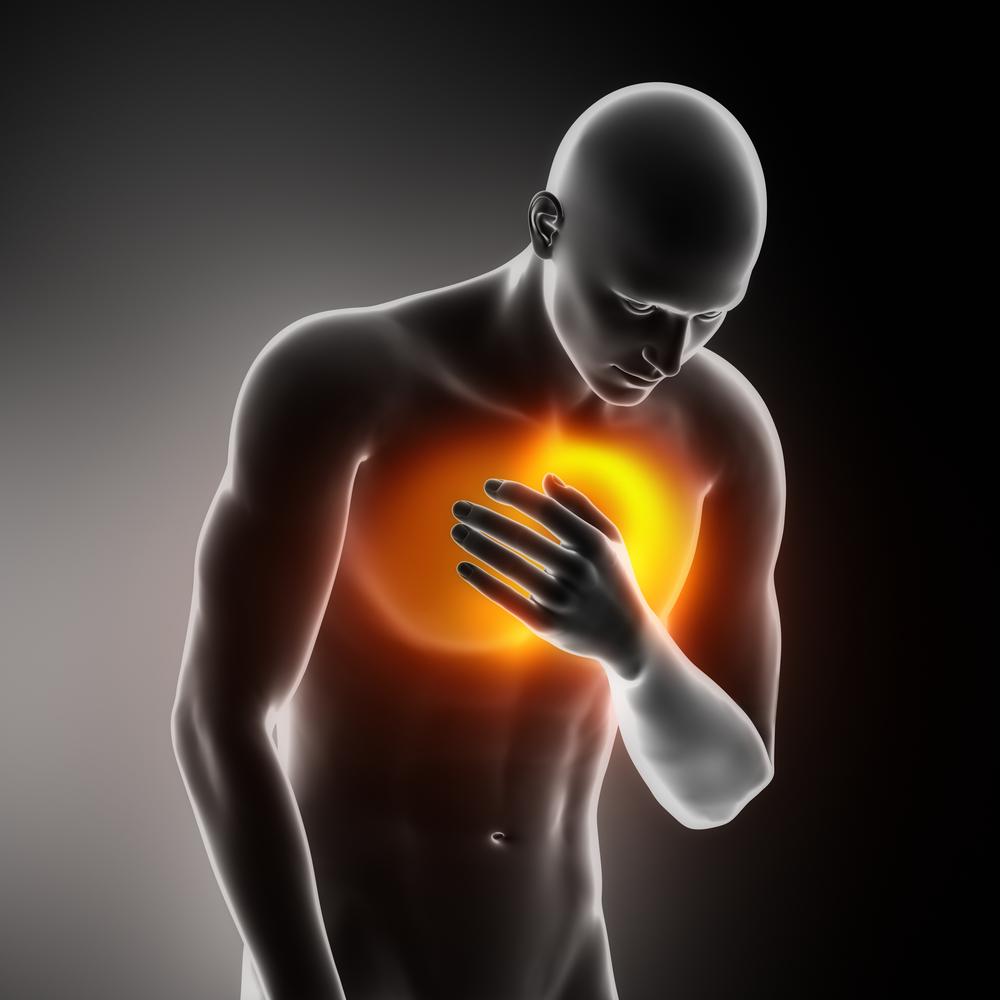 Illustration of man suffering heart attack