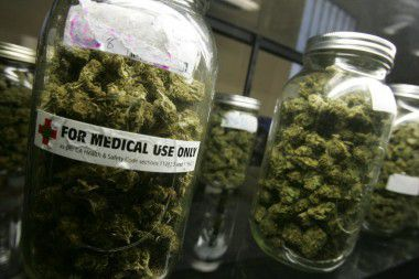 Jars of medicinal cannabis