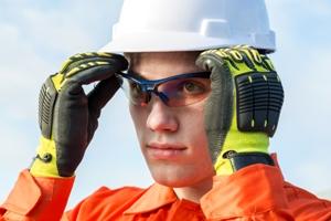 danger of eye injury at work