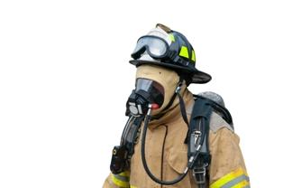 Firefighter in full gear